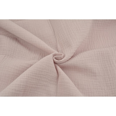 Double gauze 100% cotton plain orchid