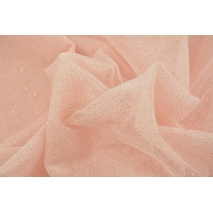 Glossy tulle with glitter powder pink