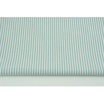 Cotton 100% double-sided, stripes 3mm sage