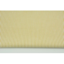 Cotton 100% double-sided, stripes 3mm mustard