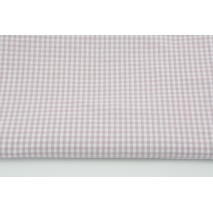 Bawełna 100% kratka vichy, dwustronna 3mm delikatny fiolet