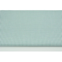 Cotton 100% double-sided sage vichy check 3mm