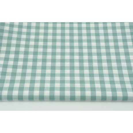 Cotton 100% double-sided sage vichy check 1cm