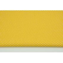 Bawełna 100% drobne gwiazdki na żółtym tle, popelina