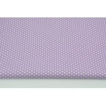 Cotton 100% tiny stars on a lavender background, poplin