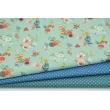 Cotton 100% mini dots on a dark blue background, poplin