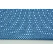 Bawełna 100% mini kropki na ciemnoniebieskim tle, popelina