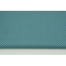 Cotton 100% mini dots on a dark azure background, poplin