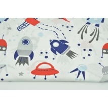 Cotton 100% spaceships on a white background
