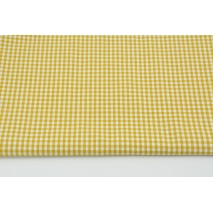 Cotton 100% double-sided mustard vichy check 3mm