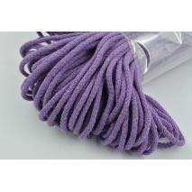 Sznurek bawełniany 6mm fioletowy (miękki)