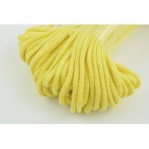 Sznurek bawełniany 6mm żółty (miękki)