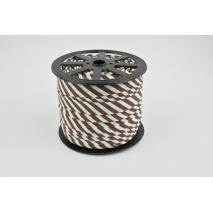 Cotton bias binding 5mm brown stripes