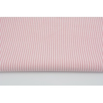 Cotton 100% double-sided, stripes 3mm sweet pink