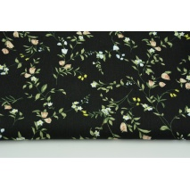 Viscose 100% black with field flowers