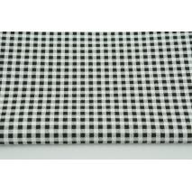 Bawełna 100% czarna krateczka 5mmx5mm