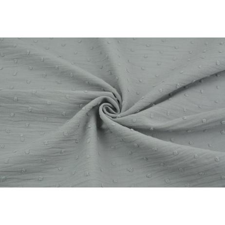 Cotton 100% plumeti gray
