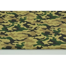 Cotton 100% camouflage XS on a beige background