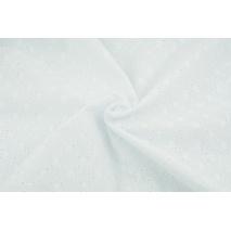 Bawełna 100% haftowana ażurowa - romby, biała