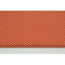 Bawełna 100% drobne gwiazdki na j.rudym tle, popelina