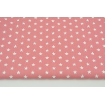 Cotton 100% V stars on a dark pink background, poplin