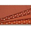 Bawełna 100% gwiazdki V na j.rudym tle, popelina