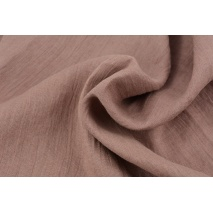 100% plain linen in a marsala pink color, softened 145g/m2