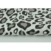 Cotton 100% gray leopard print on a white background