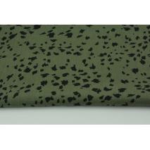 Viscose 100% black spots on a khaki background