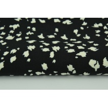 Viscose 100% cream spots on a black background
