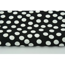 Viscose 100% white dots on a black background