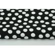 Viscose 100% white dots on a black background