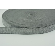 Rubber with lurex 20mm steel with silver thread
