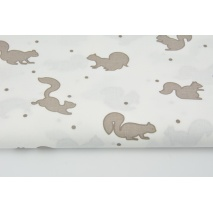 Cotton 100% chocolate squirrels on a white background
