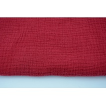 Double gauze 100% cotton plain red wine