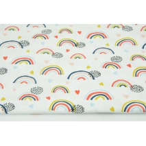 Jersey in a pattern of rainbows on a white background