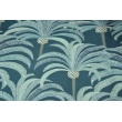 Decorative fabric, palms on a dark blue background 200g/m2