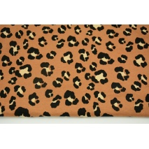 Knitwear viscose single, animal pattern on a beige-brown background