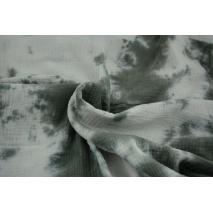 Muślin bawełniany, tie dye szary