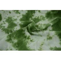 Muślin bawełniany, tie dye zielony