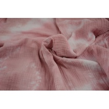Double gauze 100% cotton tie dye pink