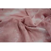 Muślin bawełniany, tie dye róż