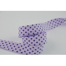 Cotton bias binding violet stars 18mm