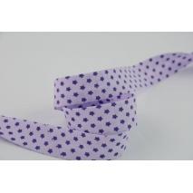 Lamówka bawełniana fioletowe gwiazdki 18mm