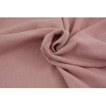 Double gauze 100% cotton plain quartz pink 1