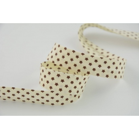 Cotton bias binding beige 18mm