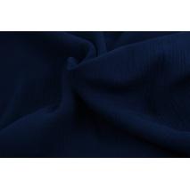 Double gauze 100% cotton plain navy 1