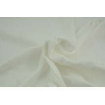 Double gauze 100% cotton gold dust on a creamy background