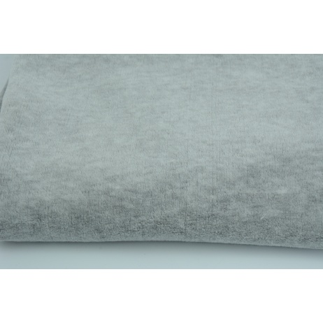 Knitwear velour, gray melange