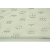 Cotton 100% gray crowns, majesty on a white background